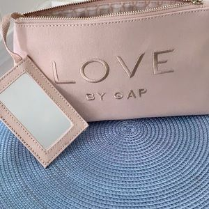 GAP Love Cosmetic Bag with Mirror NWT